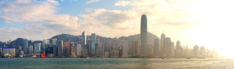 Fototapete - Hong Kong sunset