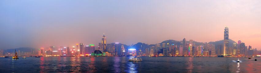 Fototapete - Hong Kong morning panorama