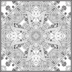 Paisley pattern background. Vector illustration, for textile, fabric
