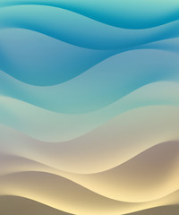waves of sea and sand color