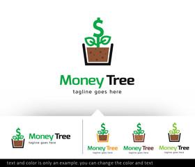 Money Tree Logo Template Vector Design