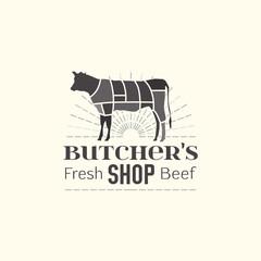 Butcher shop logo