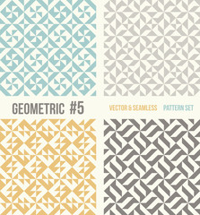 Set of four geometric patterns