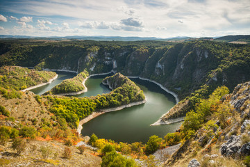 Canyon of Uvac river, Serbia, Europe
