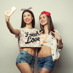 two young funny women