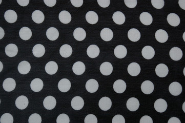 Polka dot pattern material fabric