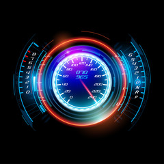 Abstract car speedometer
