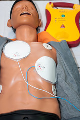 cardiopulmonary resuscitation with AED
