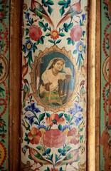 plafond peint, Shiraz, Iran