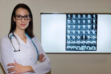 Doctor Examining An X-Ray Image