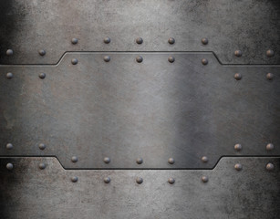metal armour plate background