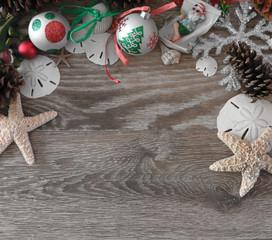 Coastal Christmas Background