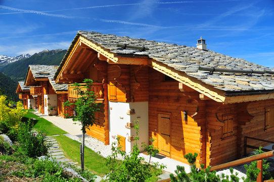 alpine chalets in Switzerland