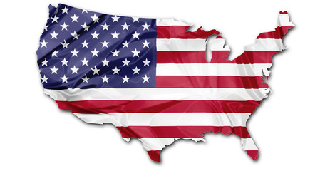 Map of Usa flag