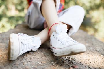 View women's white sneakers