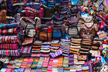 peruvian clothes and bags