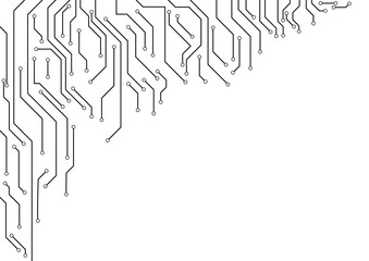Vector : Electronic circuit border on white background
