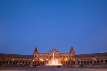 la Sevilla Monumental, plaza de España de Aníbal González