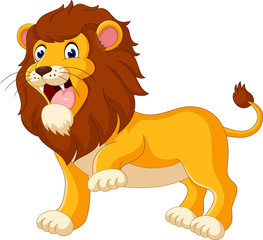 Cute lion cartoon of illustration