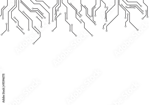 u0026quot vector   electronic circuit border on white background
