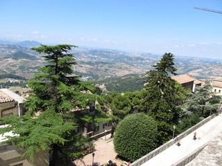 San-Marino castle view