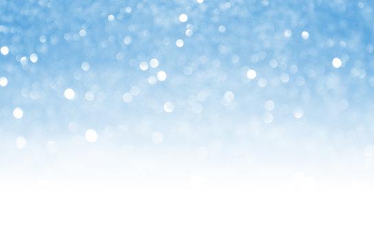 Blue bokeh light background