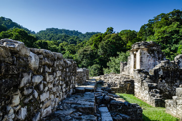 Palenque ruins in Mexico