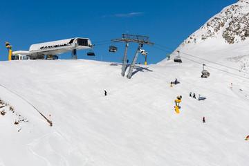 Ski slope in Solden