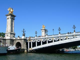 Pont Alexandre III bridge over Seine in Paris, France
