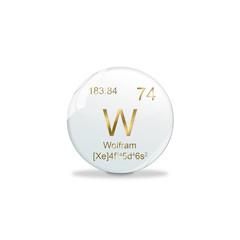 Periodensystem Kugel - 72 Hafnium
