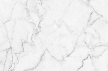 White marble patterned texture background in natural patterned for design.