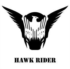 Hawk on the face.
