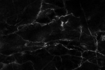 Black marble patterned texture background, abstract natural marble black and white for design.
