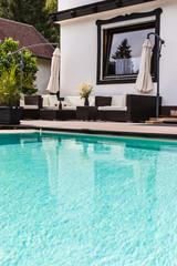 big luxury pool lounge