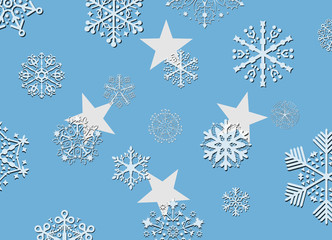 micronesia flag with snowflakes