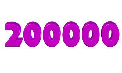 pembe renkli 200000, ikiyüz bin