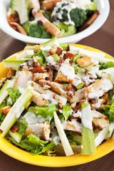 Chicken salad with zucchini