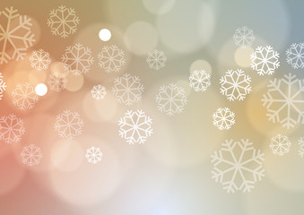 Abstract Christmas Lights with Snowflakes Background