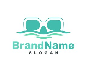 diving island tour and hotel logo template