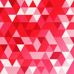 Red vector abstract triangle background.