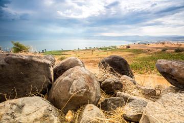 Wall Mural - Galilee panorama taken from Mount of Beatitudes