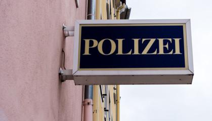 Polizeirevier Schild