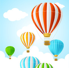 Hot Air Background Card. Vector