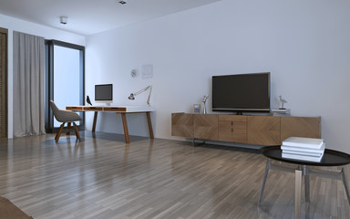 Work room contemporary style
