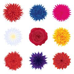Set of vector flower buds