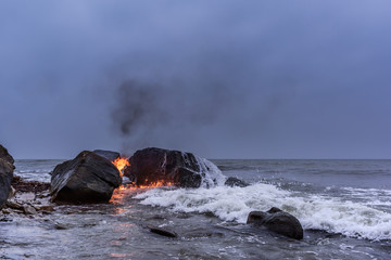 Ignition sea water