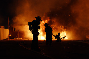 Firefighters Danger work