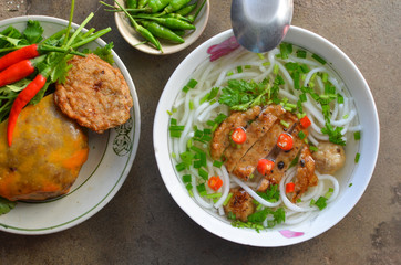 Banh canh noodle with fish in Mui Ne, Phan Thiet