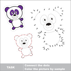 Vector numbers game. Panda to be traced.