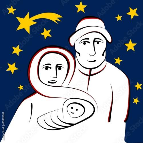 maria und josef mit baby jesus unter sternenhimmel stockfotos und lizenzfreie vektoren auf. Black Bedroom Furniture Sets. Home Design Ideas